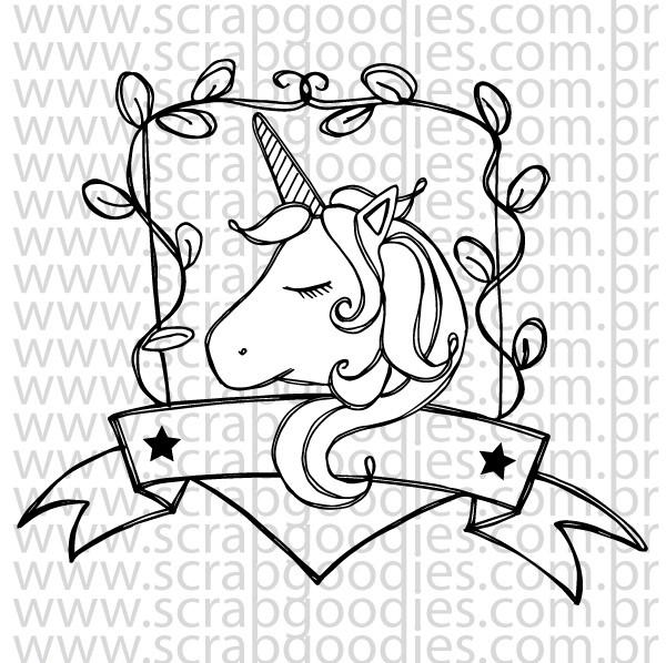 699 - Unicórnio brasão   - SCRAP GOODIES