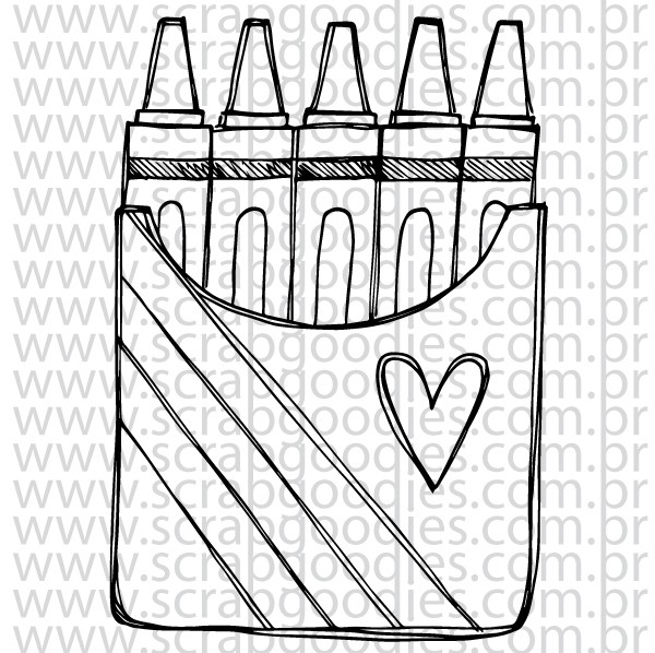 702 - Caixa Crayon  - SCRAP GOODIES