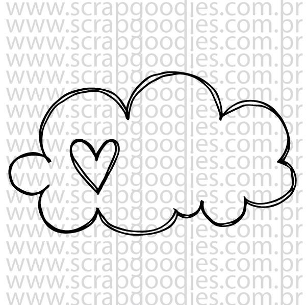 705 - Nuvem com coração  - SCRAP GOODIES