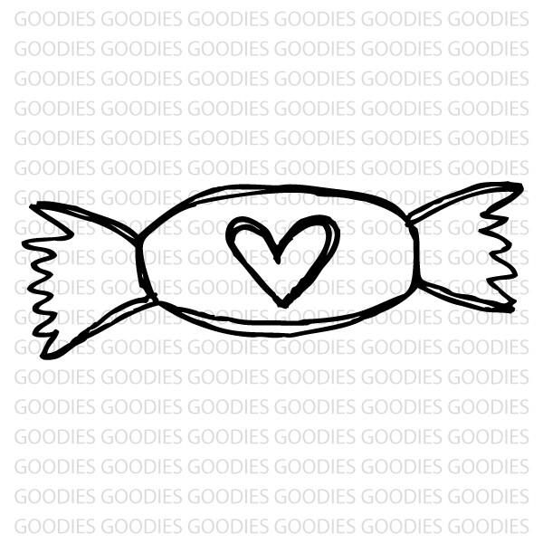 730 - Bala com coração  - SCRAP GOODIES