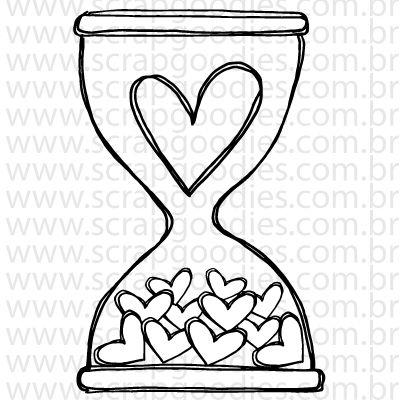 745 - Ampulheta - gotinhas de amor  - SCRAP GOODIES