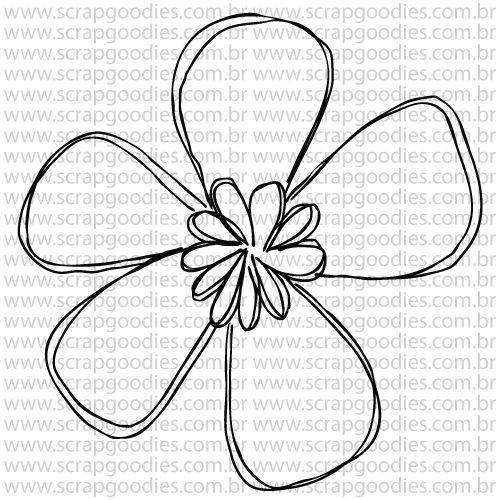 804 - Flor linhas - individual  - SCRAP GOODIES