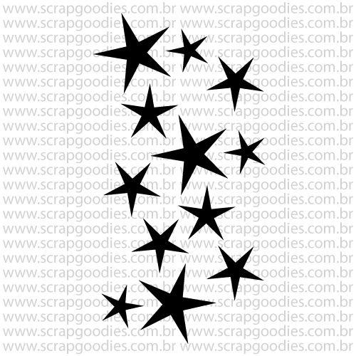 803 - Estrelinhas  - SCRAP GOODIES