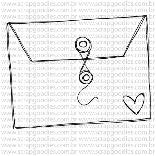 807 - Envelopinho com fecho  - SCRAP GOODIES