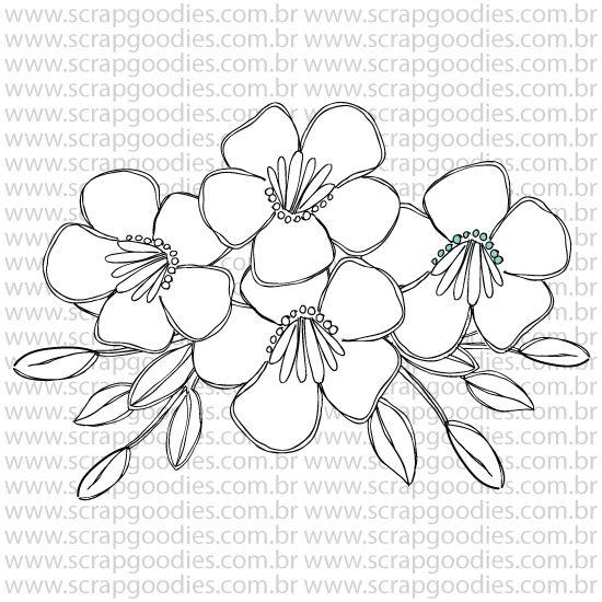 798 - Flores bouquet   - SCRAP GOODIES