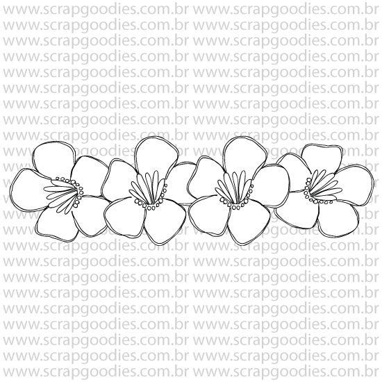 799 - Barra de flores  - SCRAP GOODIES