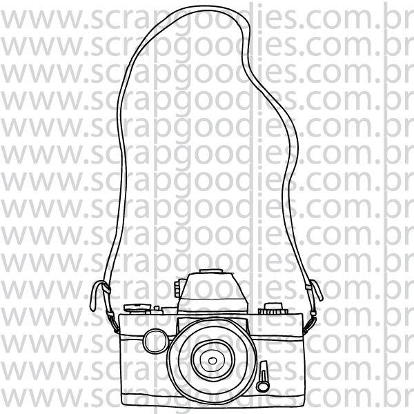 813 - Câmera Fotográfica com alça  - SCRAP GOODIES