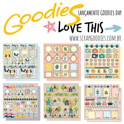 KiT 6 Papéis - linha LOVE THIS  - SCRAP GOODIES
