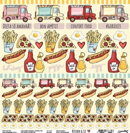 PP134 - Hot Dog & Pizza  - SCRAP GOODIES