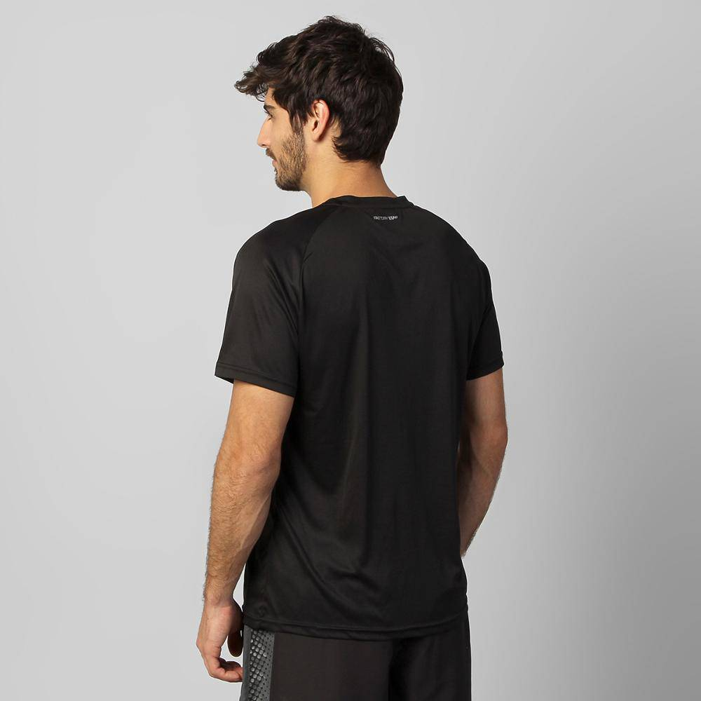Camiseta Sppedo Masculina Raglan Basic UV50 Preto
