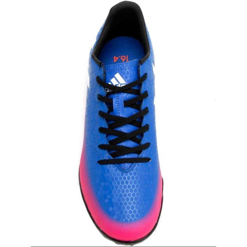 Chuteira Futsal Adidas Messi 16.4 Infantil -  Azul e Pink