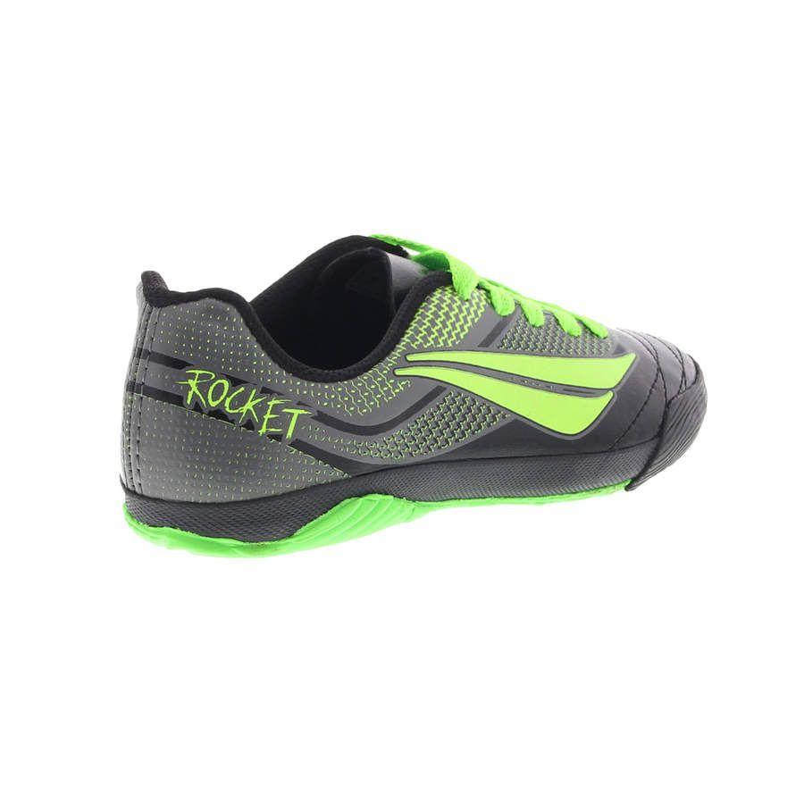 Chuteira Futsal Penalty ATF Rocket 7 Infantil Preto e Verde Limão