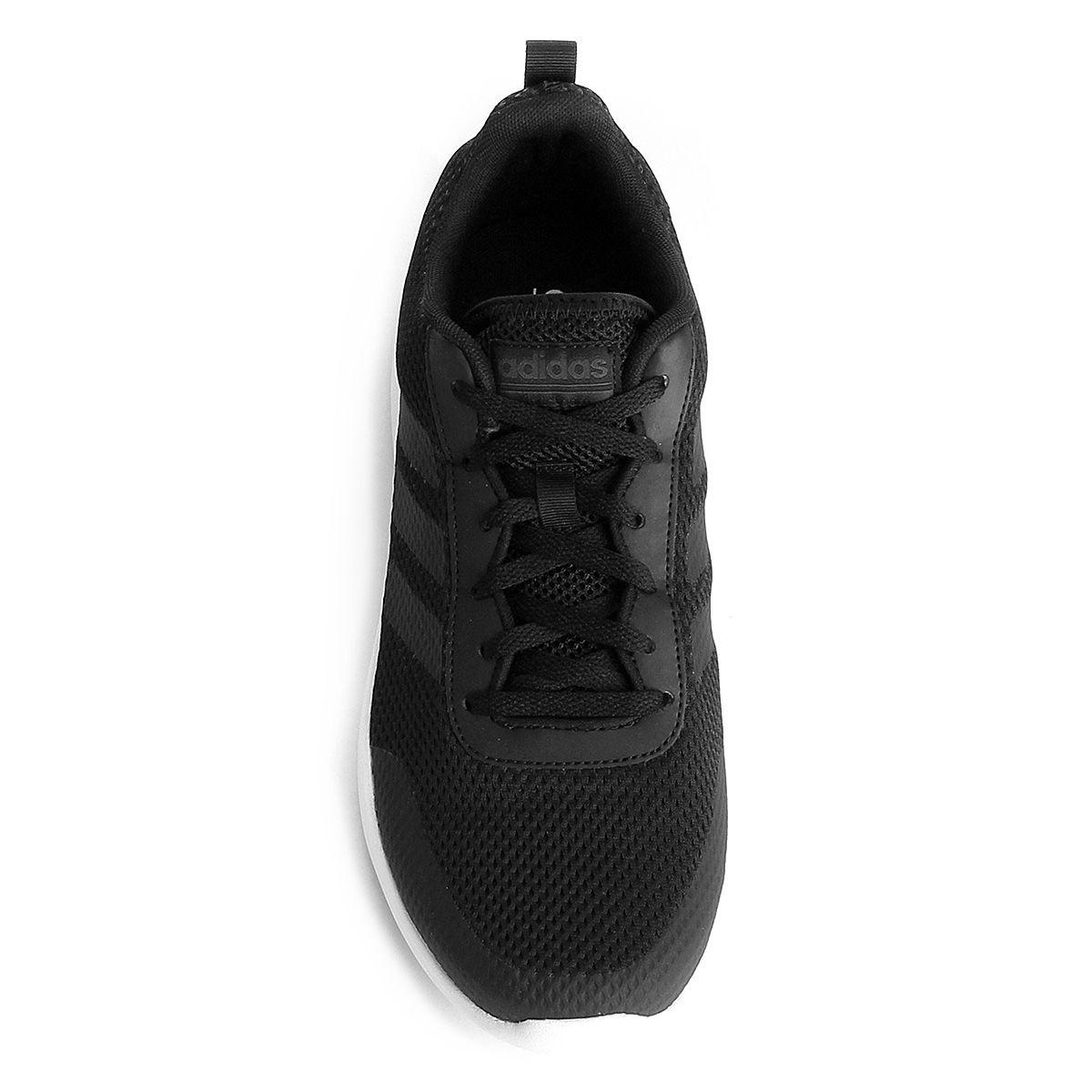 Tênis Adidas Element Race Maculino Preto e Branco