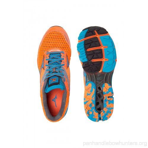 Tênis Mizuno Wave Creation 17 Laranja e Azul