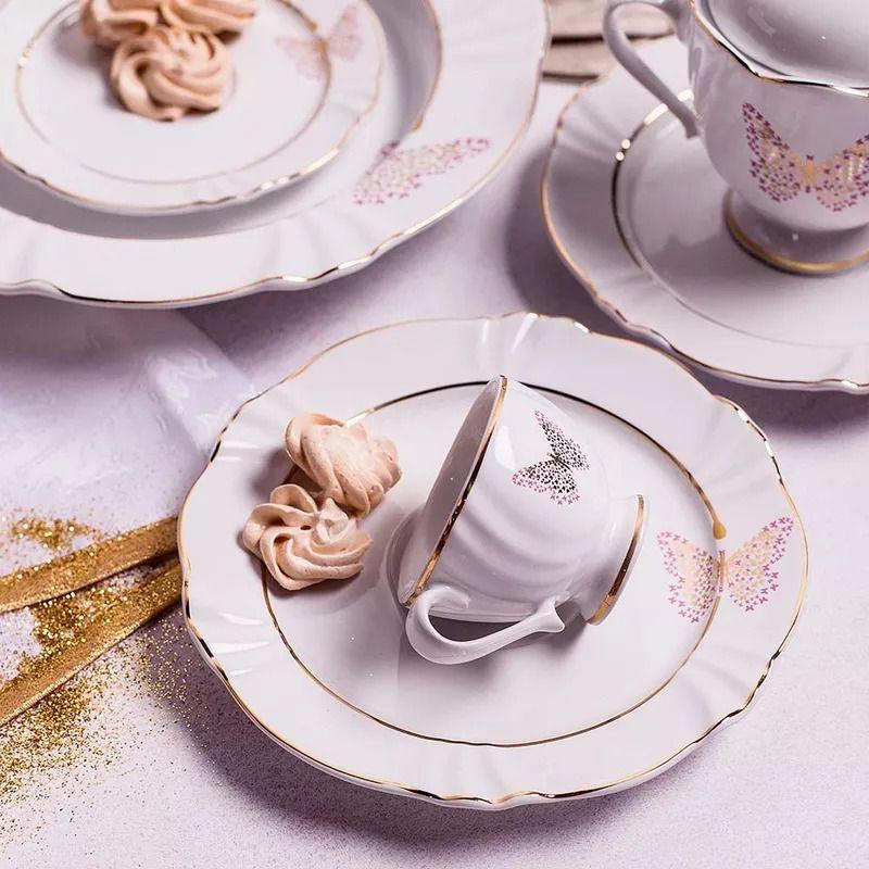 Aparelho De Jantar Oxford Porcelanas 42 Peças Soleil Encantada