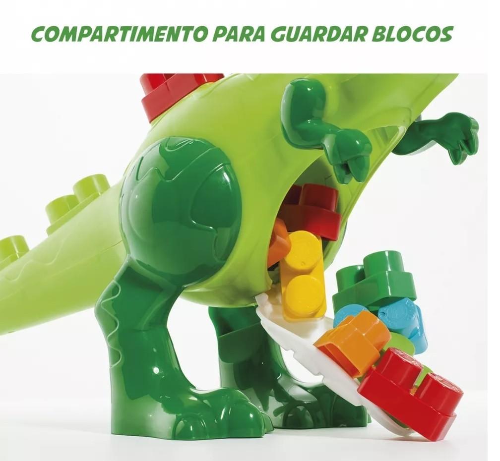 Baby Land Dino Jurassic Blocos De Montar Dinossauro Cardoso
