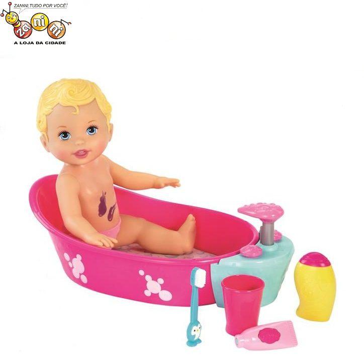 Boneca Brincadeira na Banheira Little Mommy Mattel
