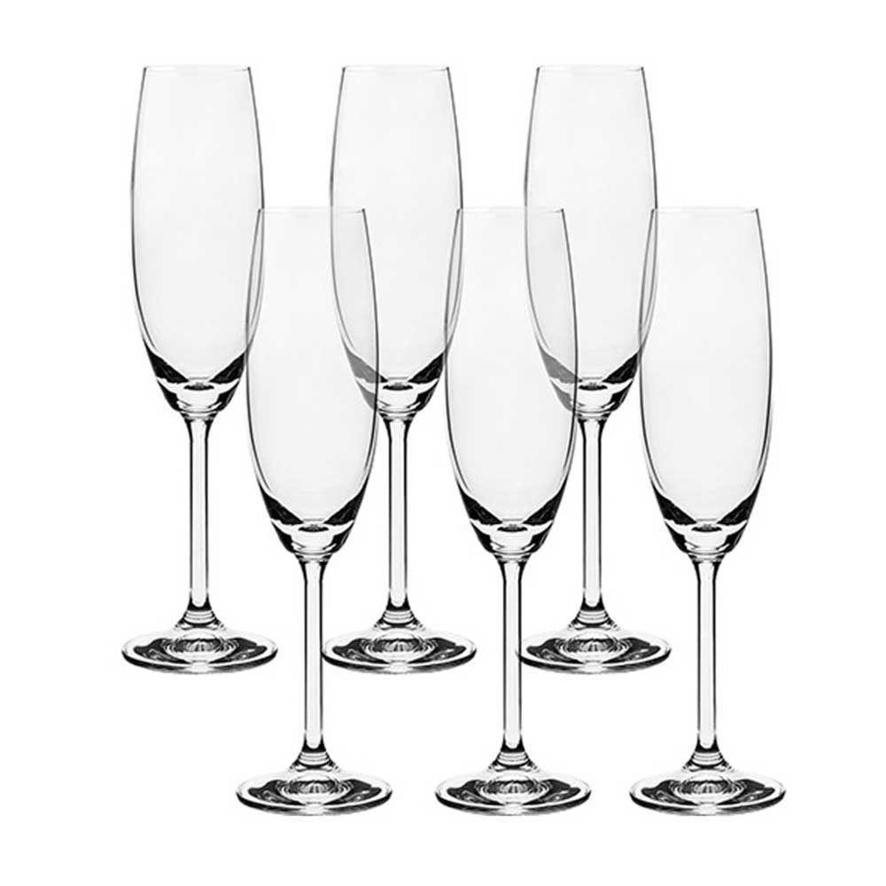 Conjunto 6 Taças de Cristal para Champanhe 220ml Bohemia