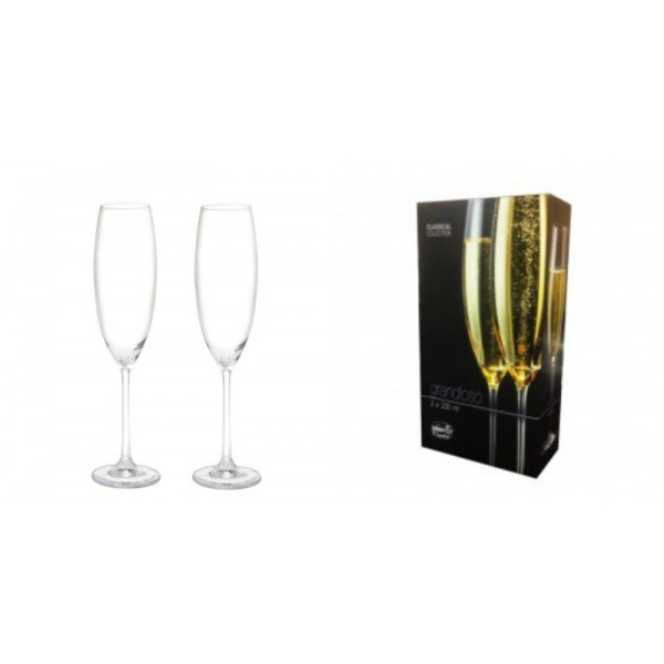Jogo de 2 Taças Cristal Champagne Grandioso Bohemia