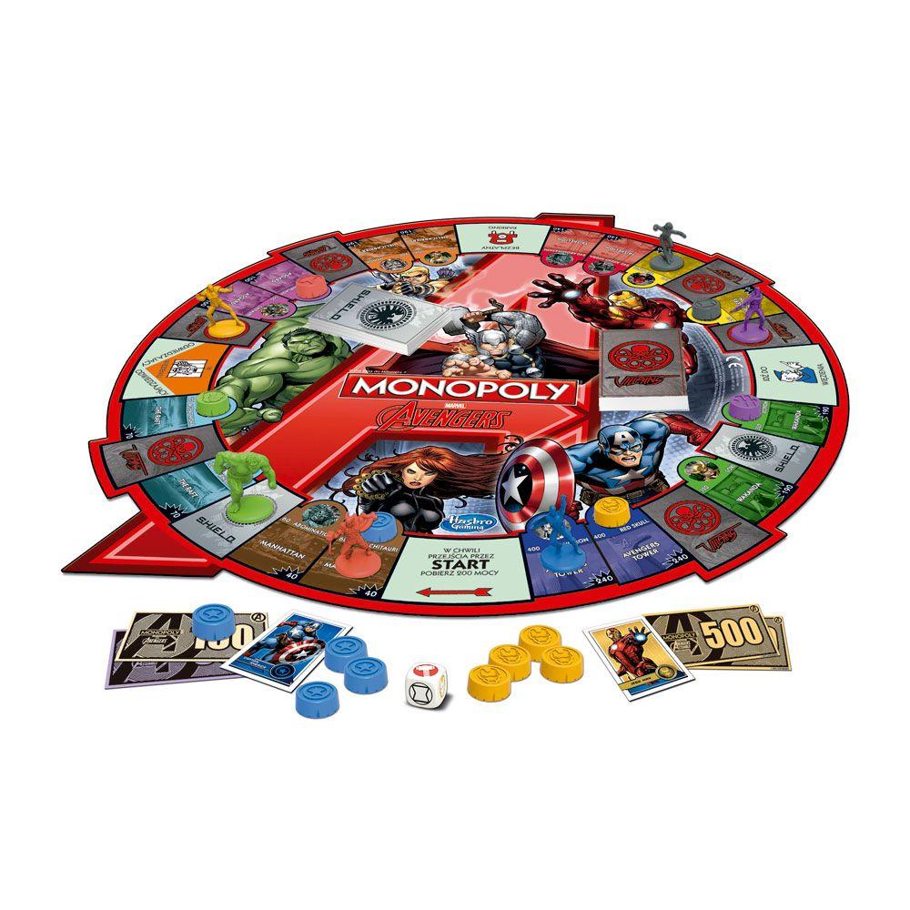 Jogo Monopoly Marvel Avengers  Hasbro Disney
