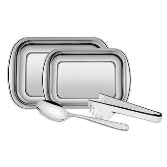 Kit para assar e servir aço inox 4 PEÇAS - TRAMONTINA