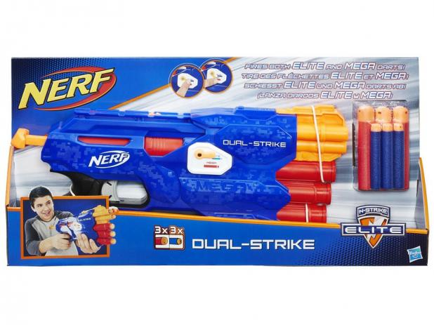 Lança Dardo Nerf Elite Dual Strike Hasbro
