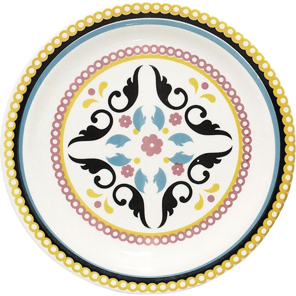 Prato Sobremesa 20cm Floreal Luiza Oxford