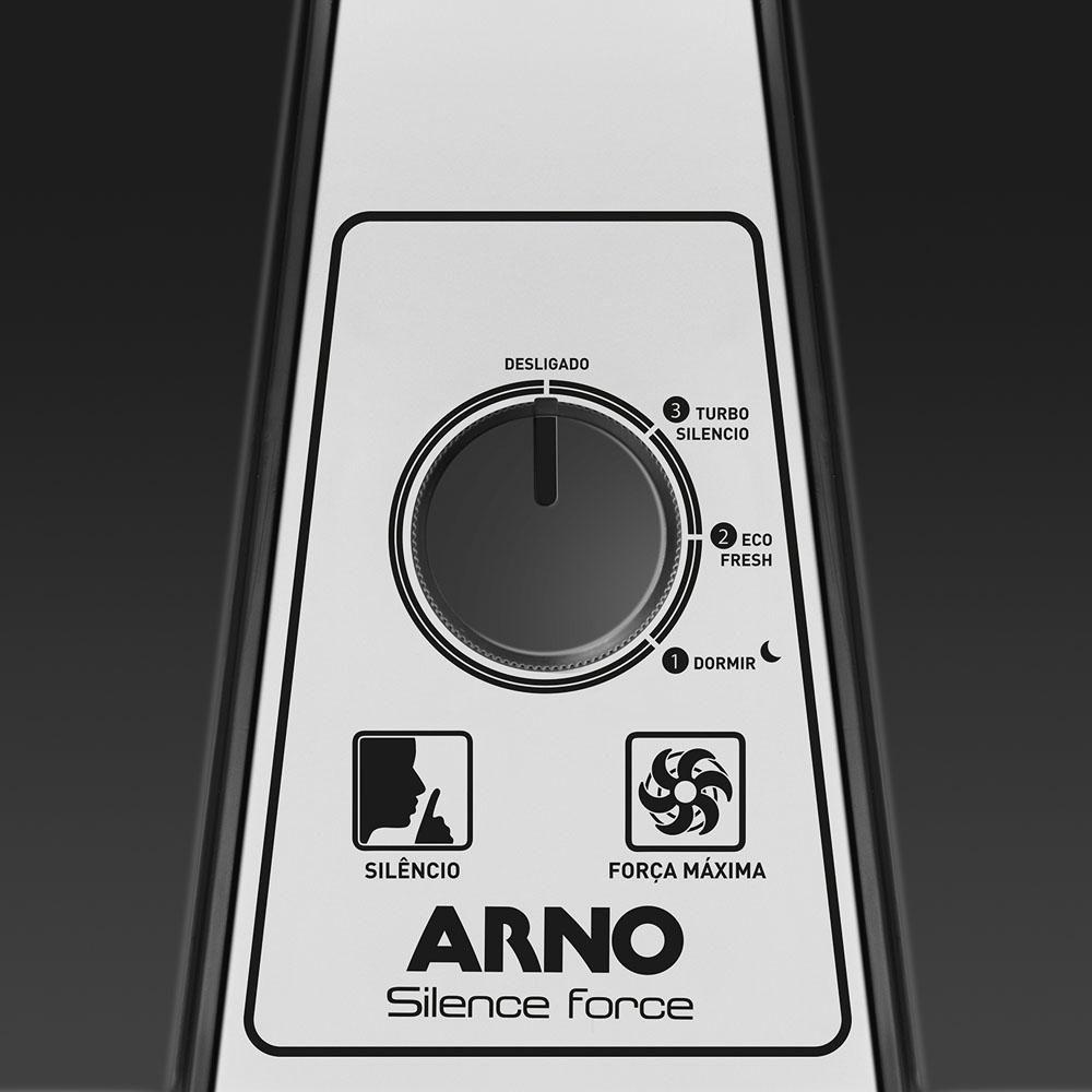 Ventilador de Mesa Arno 30cm Turbo Silêncio VF30 Preto