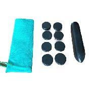 Kit Para Massagens E Reflexologia Com Pedras Vulcânicas