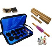 Kit Para Massagens Com Pedras Quentes Bambus Pindas E Vela 220 Volts