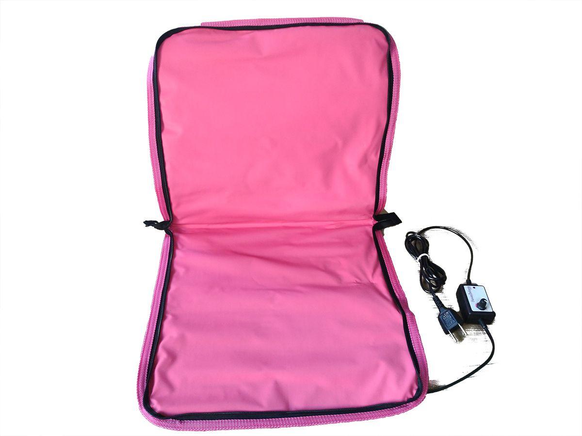 Bolsa Aquecedora De Pedras Para Massagens Rosa