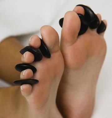 Kit De Pedras Quentes Vulcânicas Para Massagem Podal