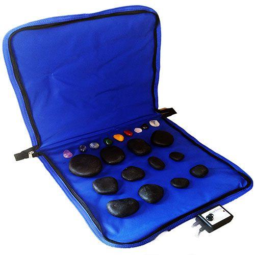 Kit para Massagem com Pedras Quentes Vulcânicas