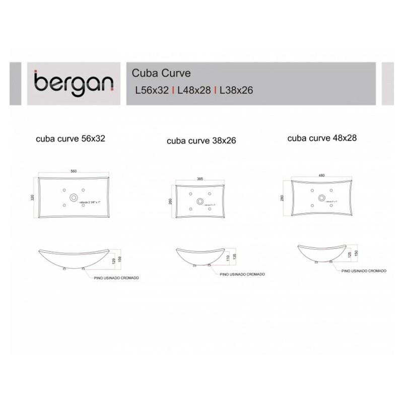 CUBA CURVE 38 X 26 CM INC.