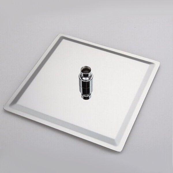 Ducha Quadrada 20x20 com Braço Quadrado 38 cm Metal