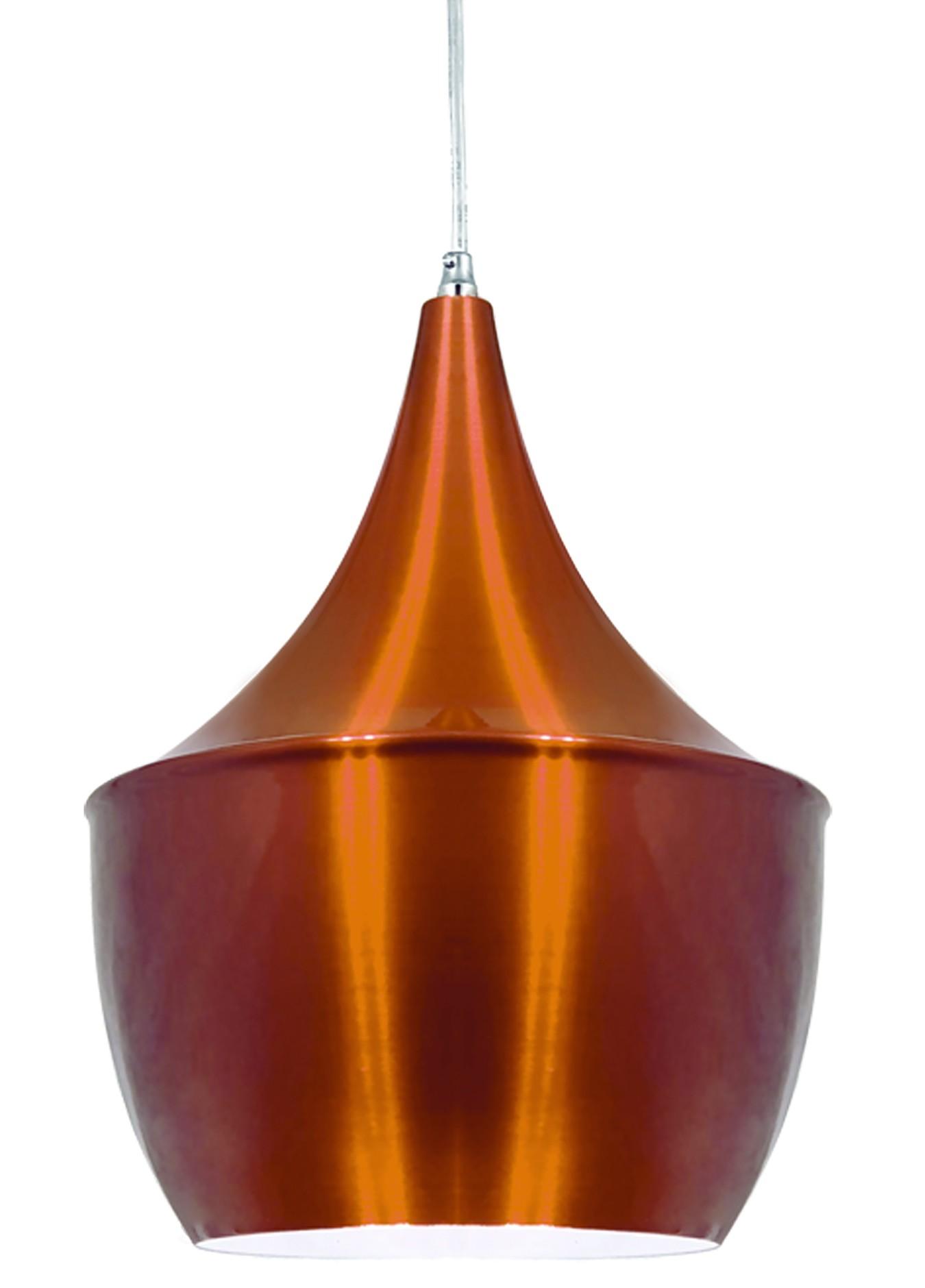 PENDENTE LUMINÁRIA BALI 32 X 25cm Cobre e Branco