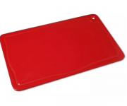 Placa De Corte Com Canaleta 50x30x1,5 Vermelha Pronyl REF: 120