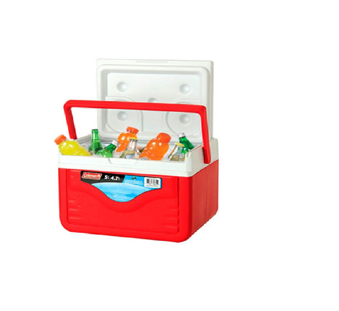 Caixa Térmica Cooler Coleman 5qt (4,7 Litros) – Vermelha  - LZ COZINHA