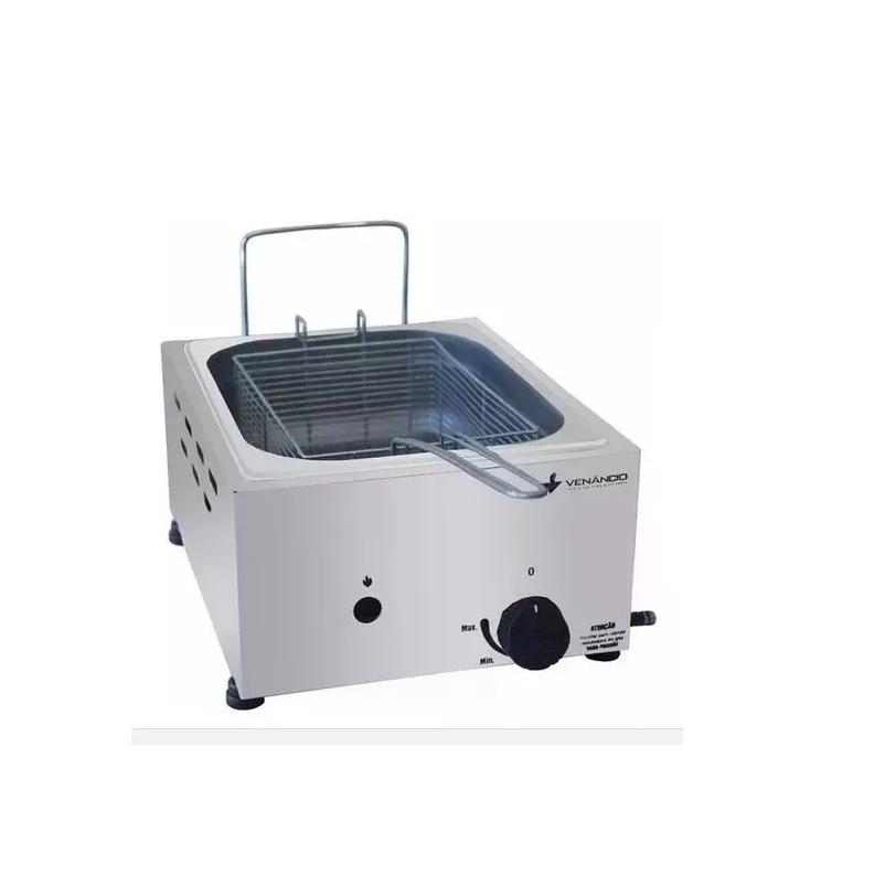 Fritador Gás Óleo Inox 1 Cuba 5 L Venâncio Fritadeira Sfg112  - LZ COZINHA