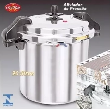 Panela De Pressão Industrial 20 Litros Fulgor - Alça  - LZ COZINHA