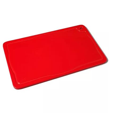 Tábua Placa De Corte Polietileno Canaleta 37x25x1 Vermelh Bg  - LZ COZINHA