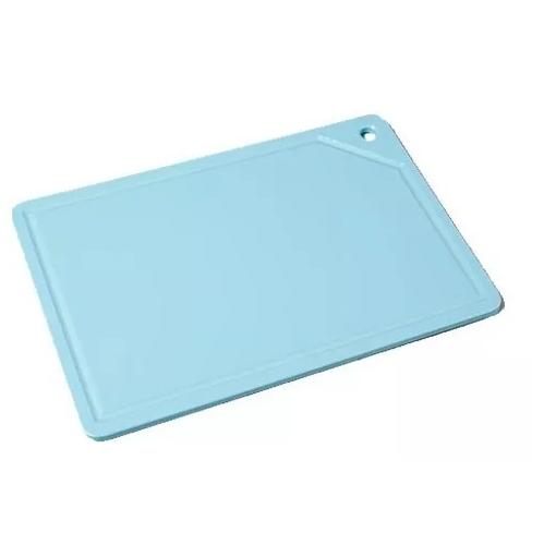 Placa De Corte C/ Canaleta 50x30x1,5 Azul Tabua Pronyl REF:122  - LZ COZINHA