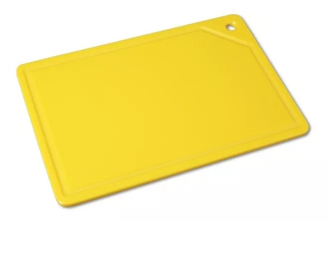 Tábua Placa De Corte Polietileno Canaleta 37x25x1 Amarela Bg REF:165  - LZ COZINHA