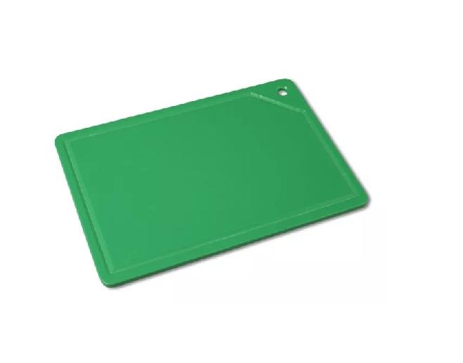Tábua Placa De Corte Polietileno Canaleta 37x25x1 Verde Bg ref:162  - LZ COZINHA