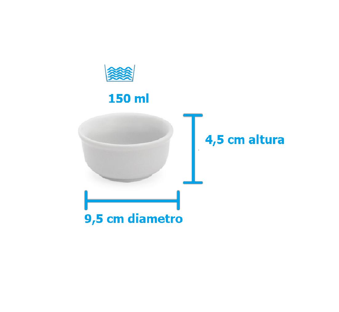 Tigela porcelana 150ml mini cumbuca molhadeira 1347/3  - LZ COZINHA