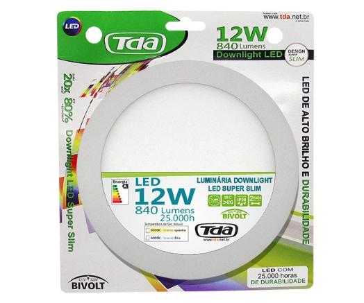 Luminária DOWNLIGHT LED 12w- TDA