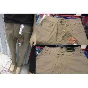 Calça Jeans Skinny Masculina Bege Caqui Marrom