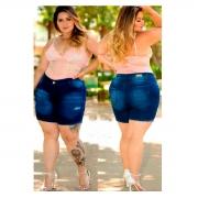 Bermuda Feminino Jeans Plus size