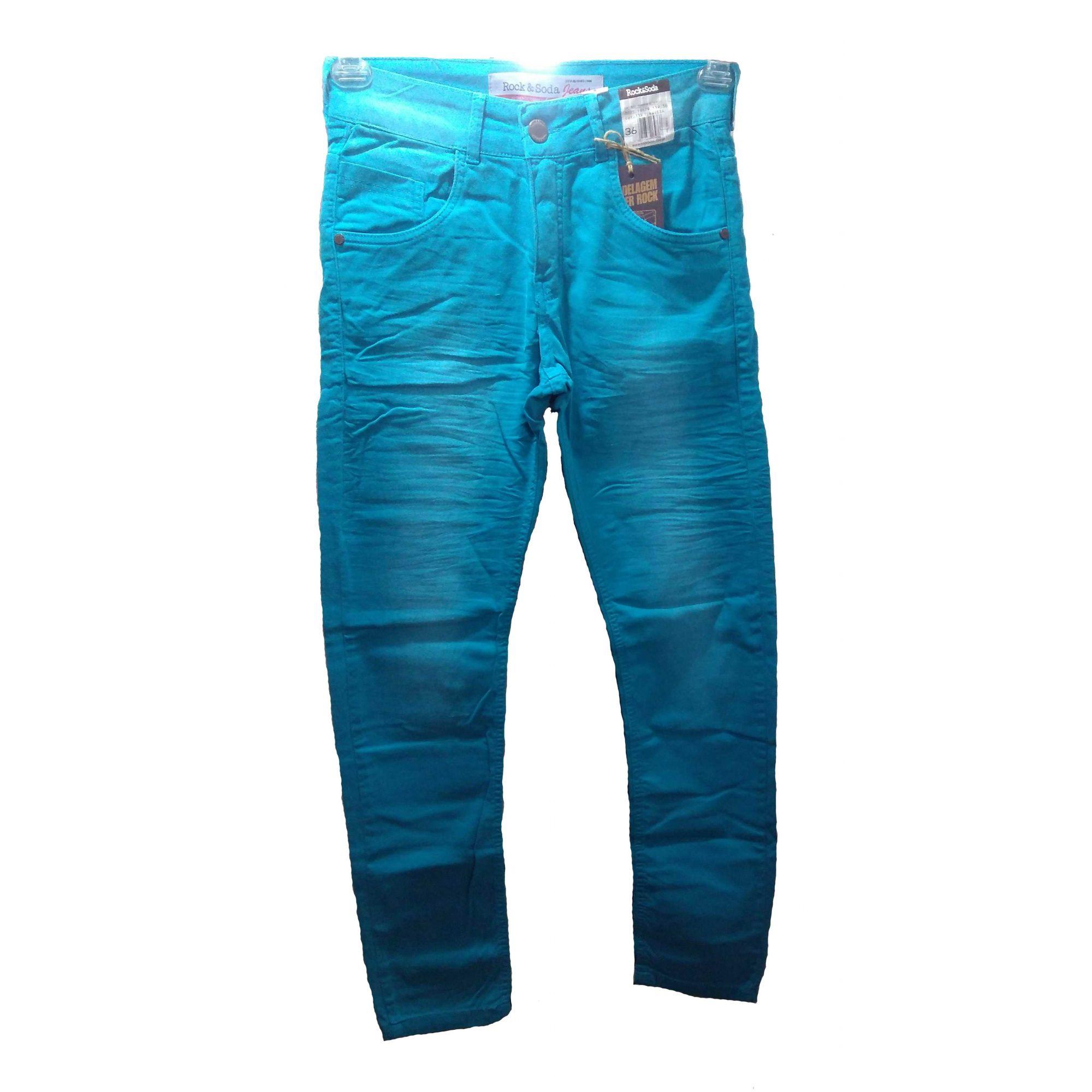 Calça Jeans Masculina Skinny Marca Rock Soda