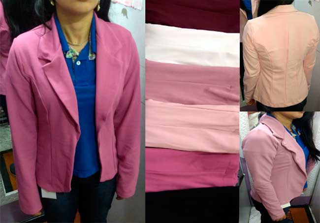 fd17485ee2 blazer casaco feminino manga longa tecido grosso